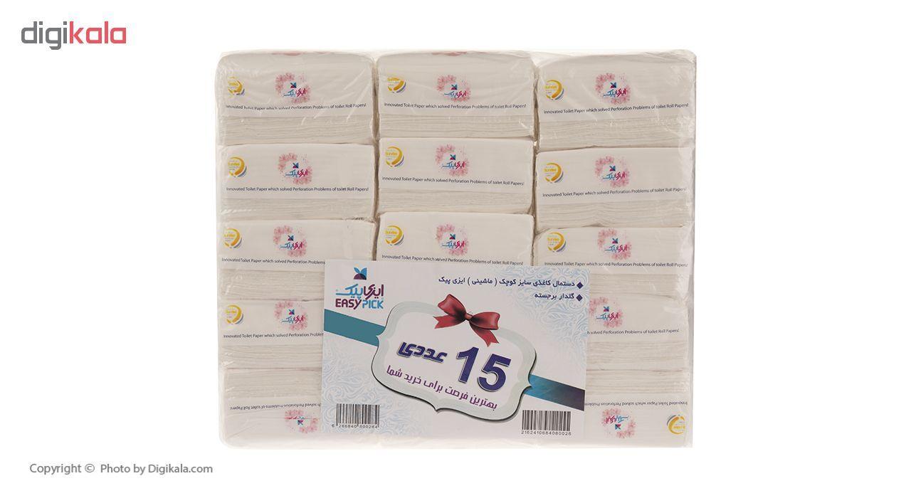 دستمال کاغذی 100 برگ ایزی پیک مدل Flower بسته 15 عددی main 1 1