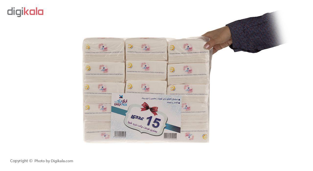 دستمال کاغذی 100 برگ ایزی پیک مدل Flower بسته 15 عددی main 1 7
