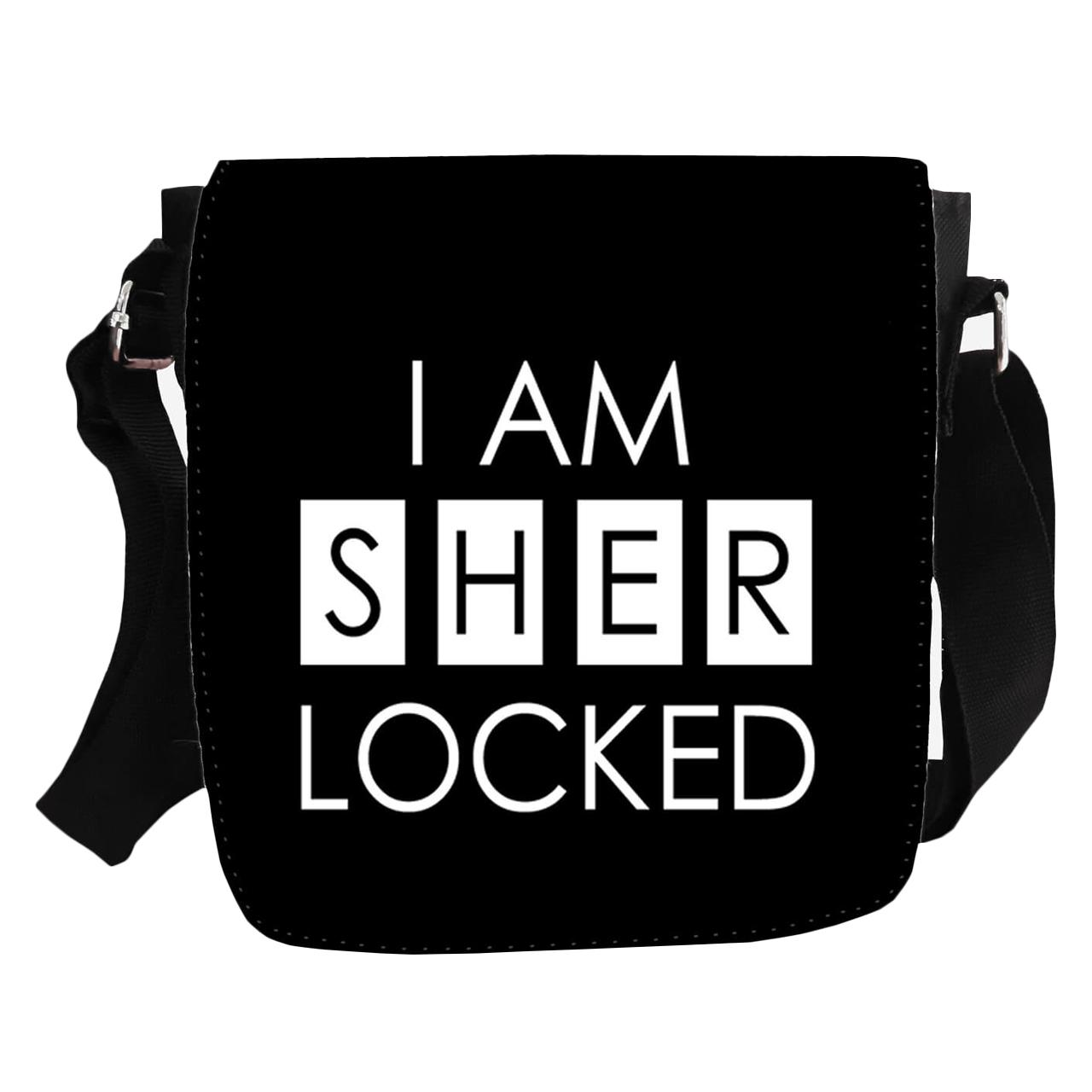 کیف دوشی طرح I am sher locked مدل KP-199