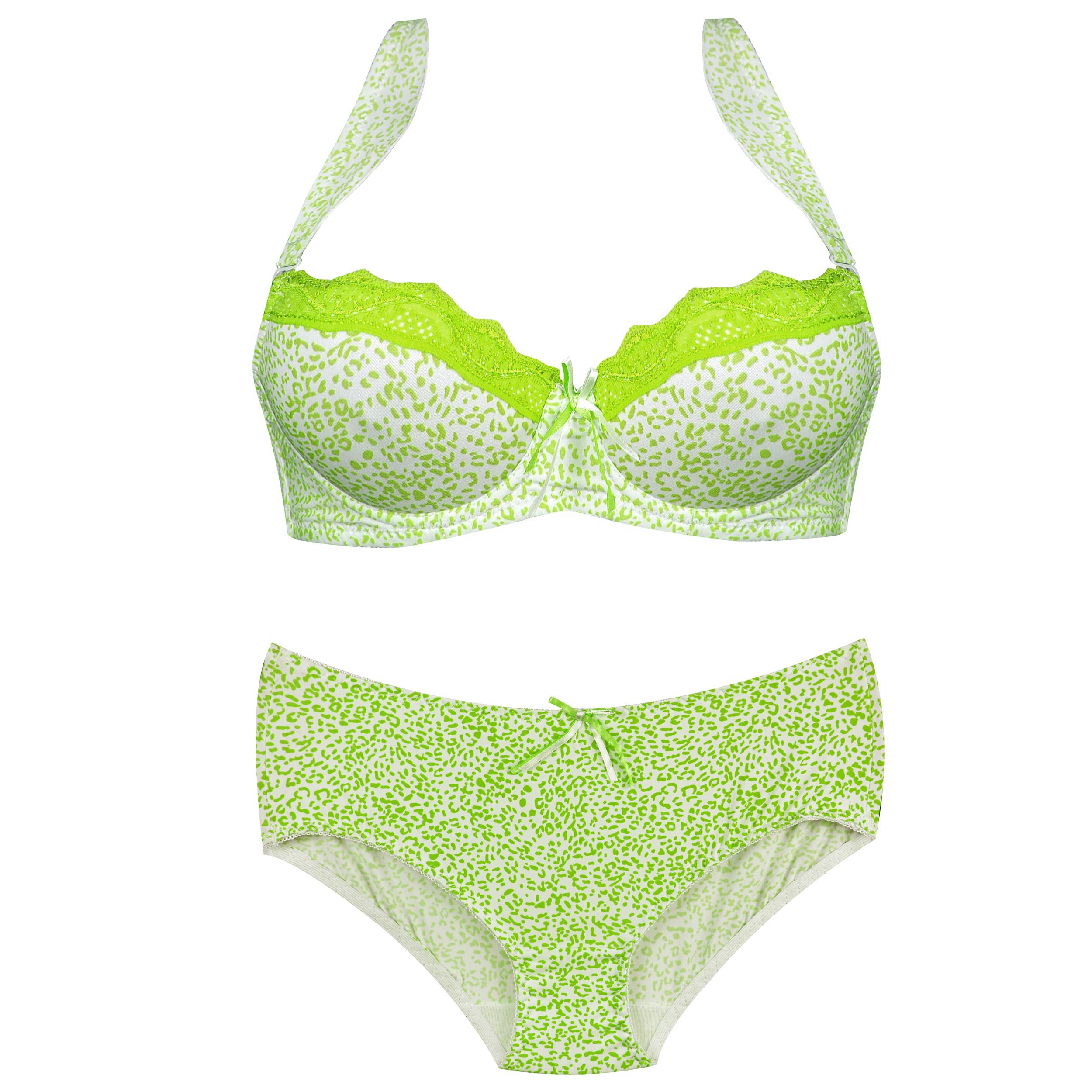 ست شورت و سوتین دخترانه کد 3139-2 رنگ سبز
