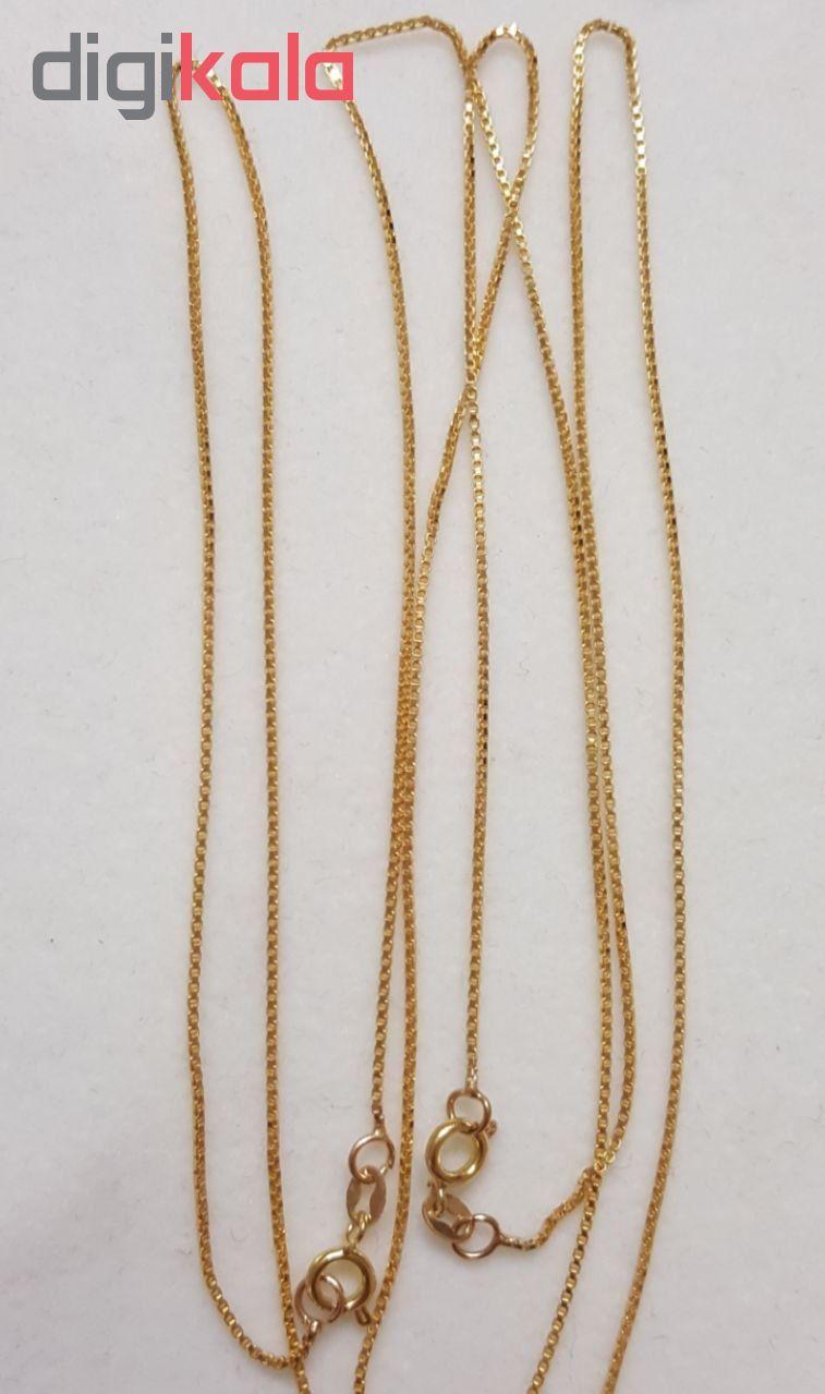 زنجیر طلا ۱۸ عیار زنانه مدل ونیزی main 1 2