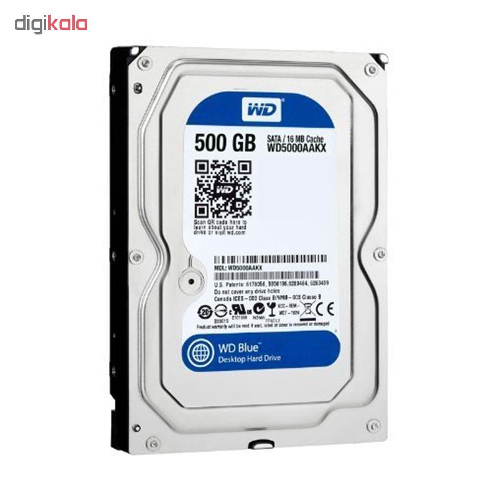 هارد دیسک اینترنال وسترن دیجیتال مدل WD BLUE WD5000AAKX ظرفیت 500 گیگابایت