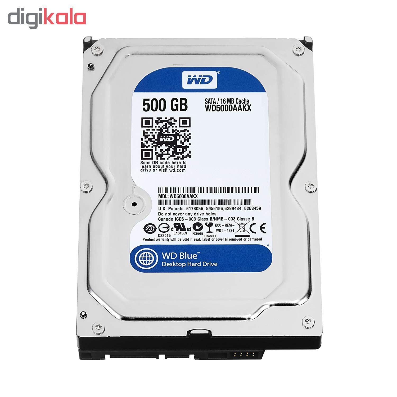 هارد دیسک اینترنال وسترن دیجیتال مدل WD BLUE WD5000AAKX ظرفیت 500 گیگابایت main 1 4