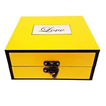 جعبه هدیه چوبی کادویی مدل 37