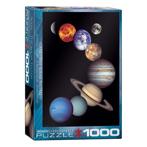 پازل 1000 تکه یوروگرافیکس پازلز طرح سیستم خورشیدی ناسا کد 0100