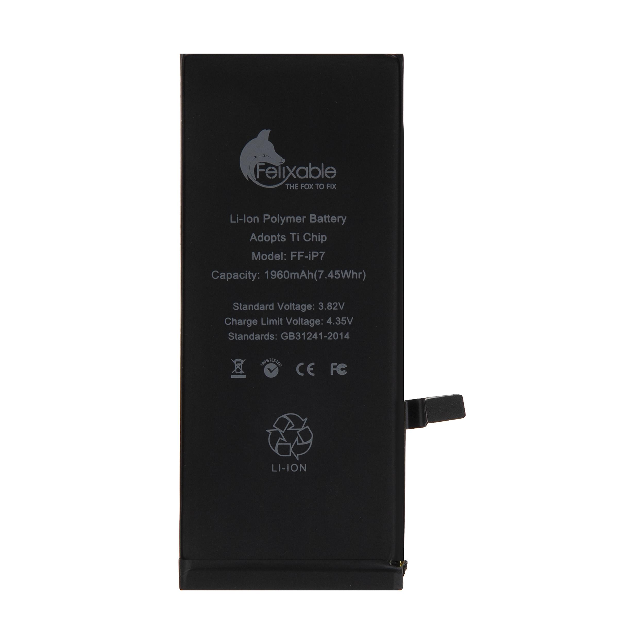 باتری موبایل فلیکسبل مدل FF-iP7 ظرفیت 1960 میلی آمپر ساعت مناسب برای گوشی موبایل اپل iPhone 7