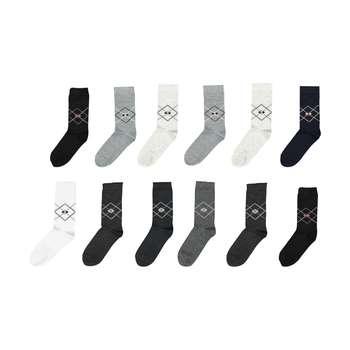 جوراب مردانه مدل G.003 بسته 12 عددی