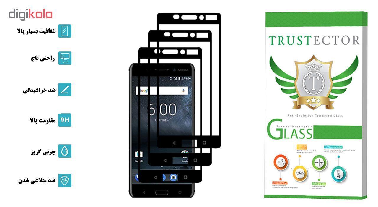 محافظ صفحه نمایش تراستکتور مدل GSS مناسب برای گوشی موبایل نوکیا 6 بسته 3 عددی main 1 2