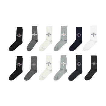 جوراب مردانه مدل G.006 بسته 12 عددی