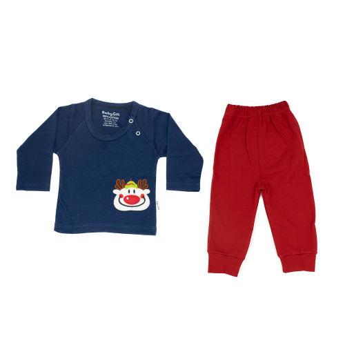 ست تی شرت و شلوار نوزادی پسرانه طرح دلقک