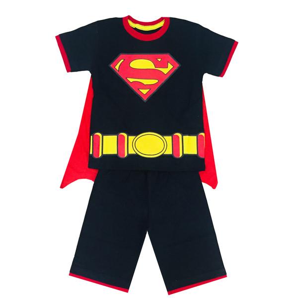ست تی شرت و شلوارک پسرانه  طرح سوپرمن کد 17