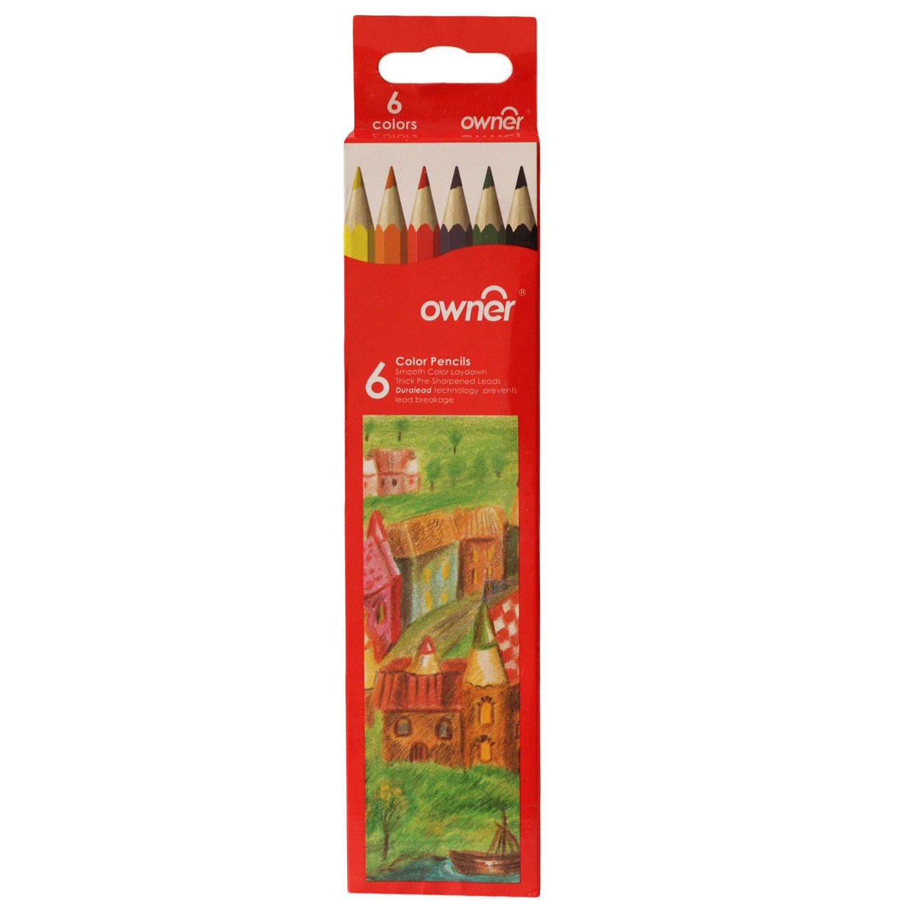 مداد رنگی 6 رنگ اونر مدل دورالید تکنولوژی