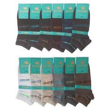 جوراب مردانه ال سون کد PH149 مجموعه 12 عددی