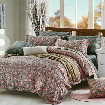 سرویس خواب طرح گل یک نفره 4 تکه