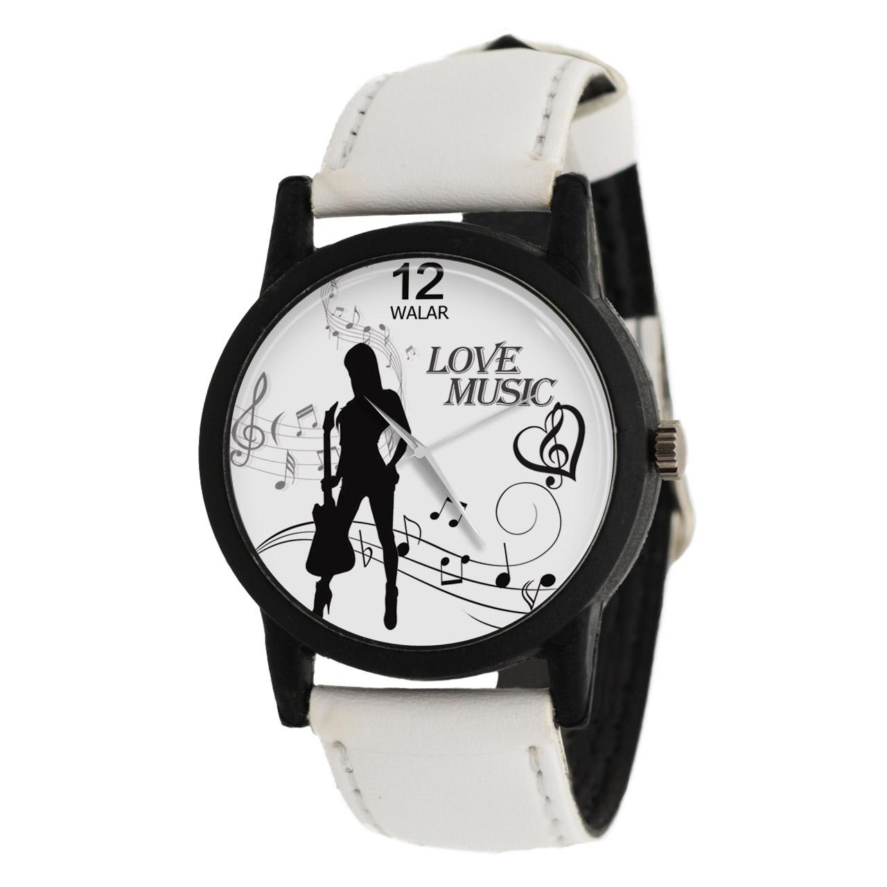 ساعت مچی عقربه ای زنانه والار طرح موسیقی مدل LF1460