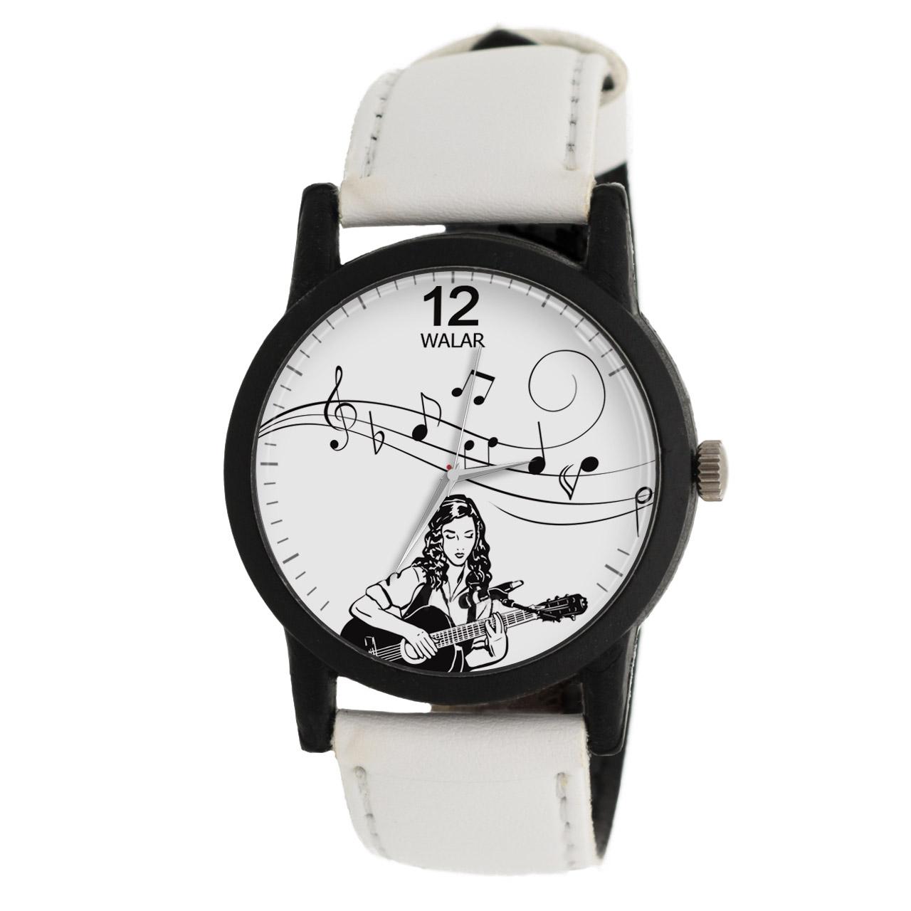 ساعت مچی عقربه ای زنانه والار طرح موسیقی مدل LF1462