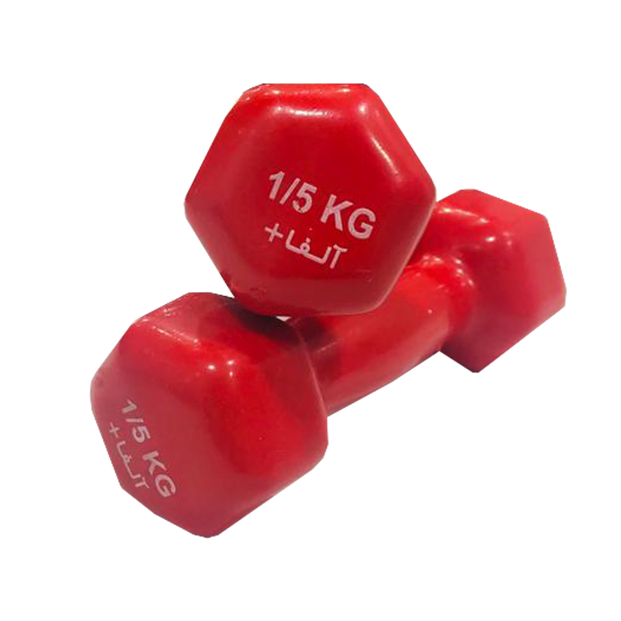 دمبل آلفا کد 1515 وزن 1.5 کیلو گرم بسته 2 عددی