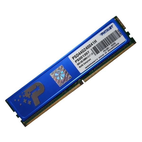 رم دسکتاپ DDR4 تک کاناله 2400 مگاهرتز CL17 پتریوت مدل PSD44G ظرفیت 4 گیگابایت