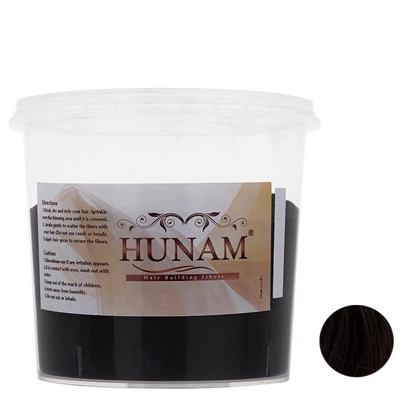 پودر پرپشت کننده مو هونام کد 02 وزن 200 گرم رنگ قهوهای تیره