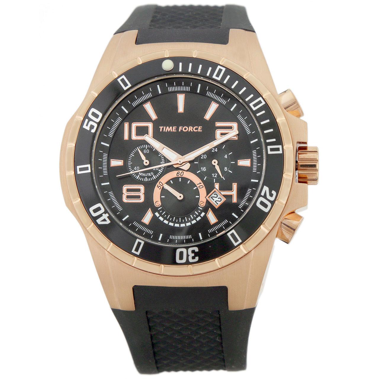 ساعت مچی عقربه ای مردانه تایم فورس مدل TF3395M15