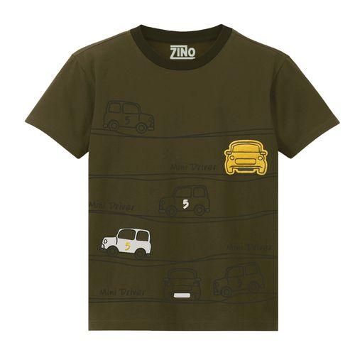 تی شرت پسرانه زینو طرح CARS رنگ سبز