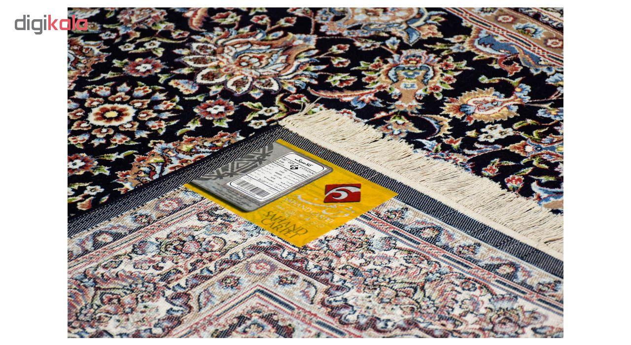 فرش ماشینی سهند کد VF17.VD زمینه سرمه ای