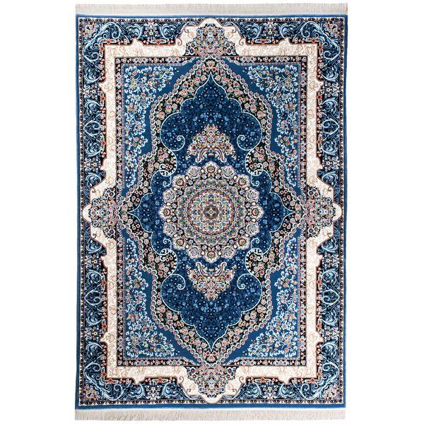فرش ماشینی سهند کد VF12.AK زمینه آبی
