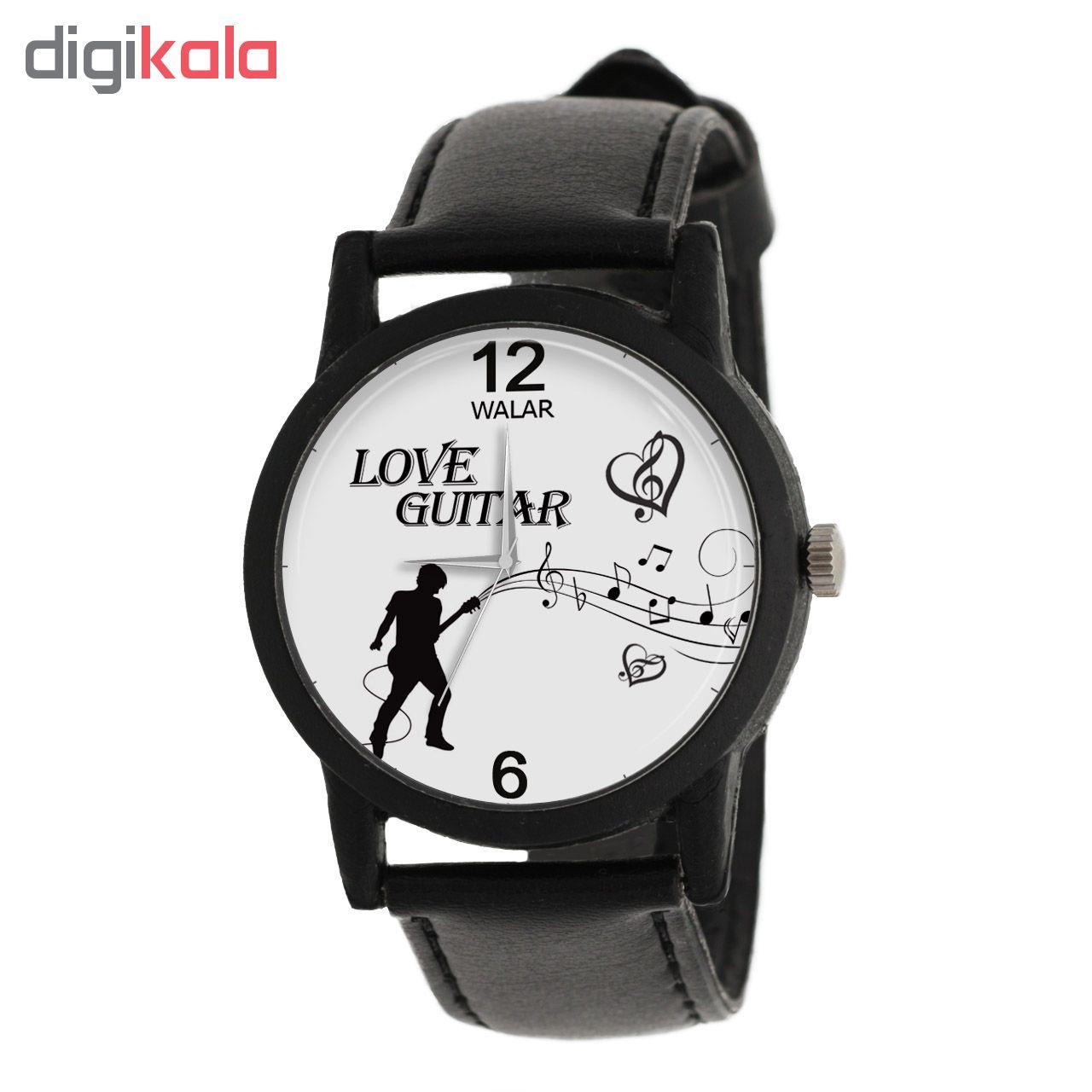 ساعت مچی عقربه ای والار طرح Love Guitar مدل LF1326