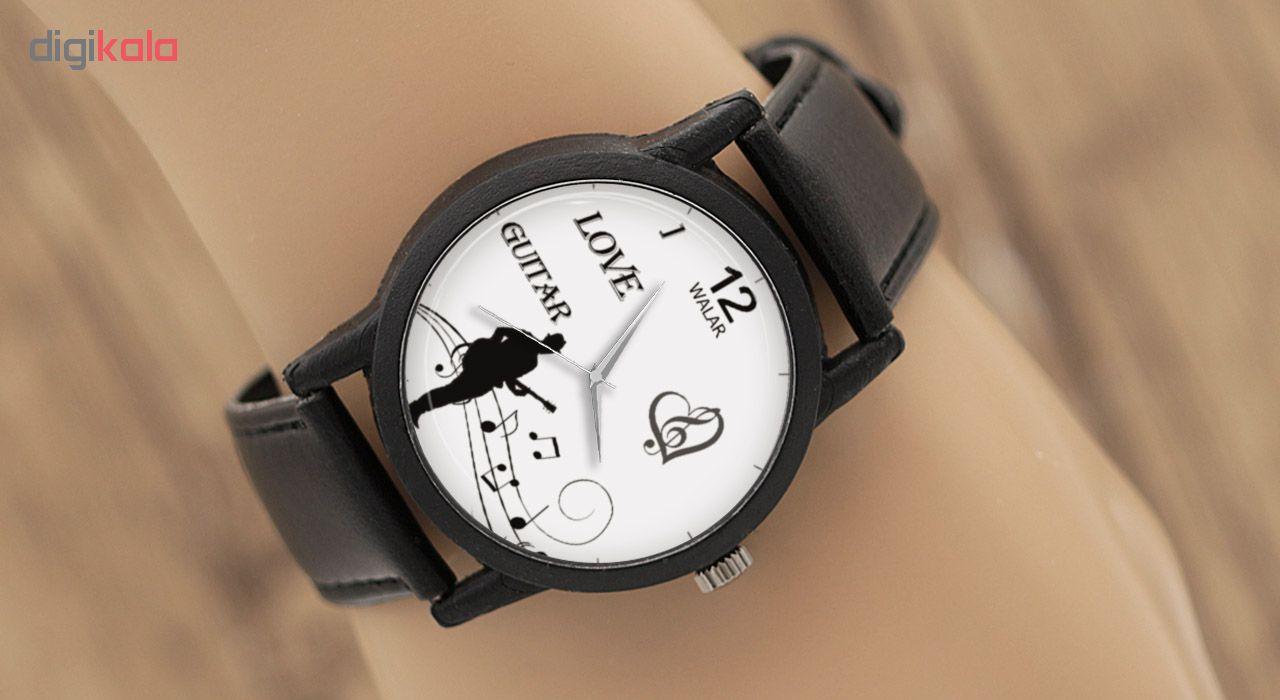ساعت مچی عقربه ای والار طرح گیتار مدل LF1327