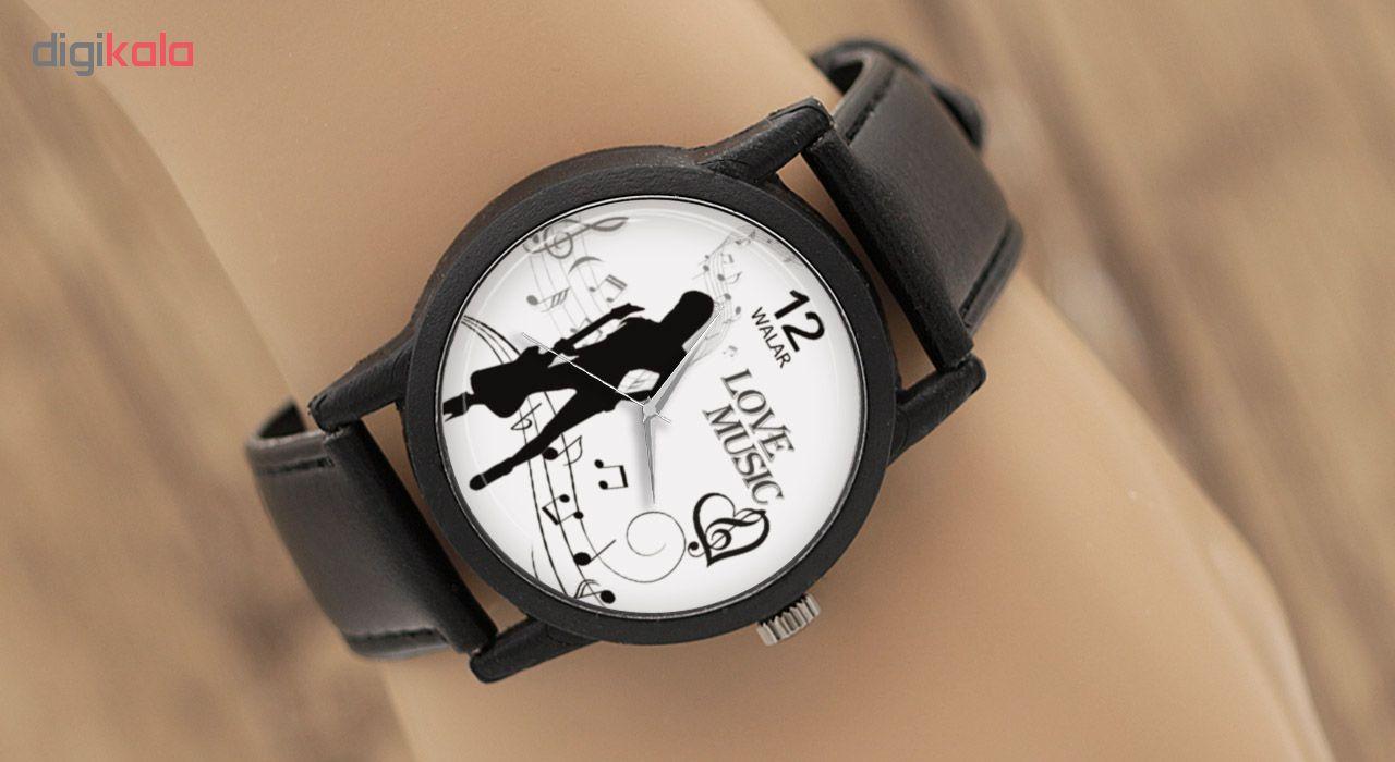 ساعت مچی عقربه ای زنانه والار طرح موسیقی مدل LF1329