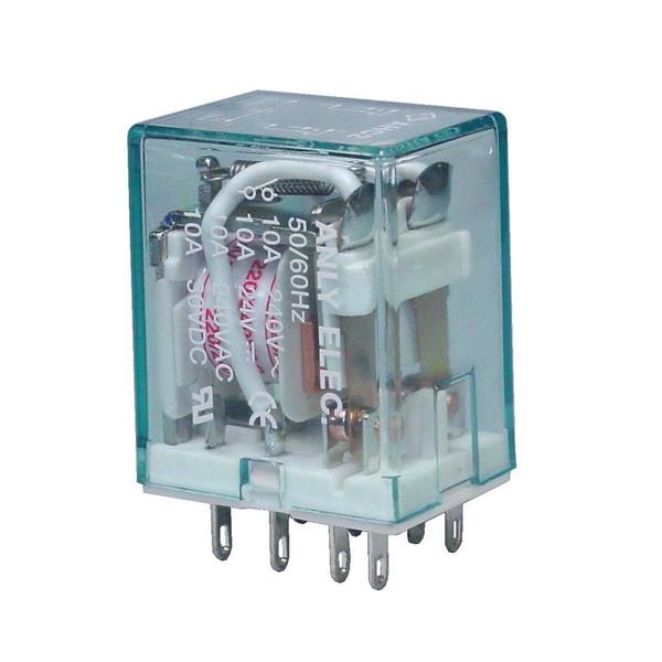 رله چراغ دار 8 پایه آنلی مدل AHC2N  بسته 10 عددی