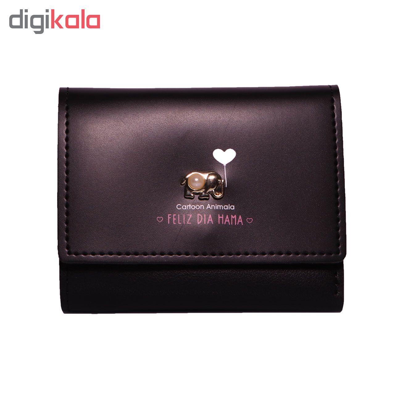 کیف پول زنانه طرح فیل کد Bg002