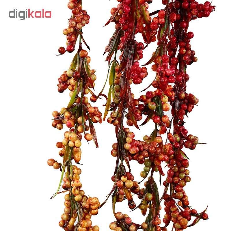 گل مصنوعی هومز طرح شاخه غوره کد 10100 بسته 3 عددی