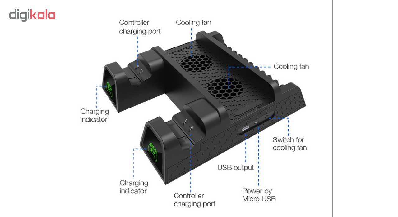 پایه خنک کننده و شارژر دسته بازی ایکس باکس دابی مدل TYX-1840