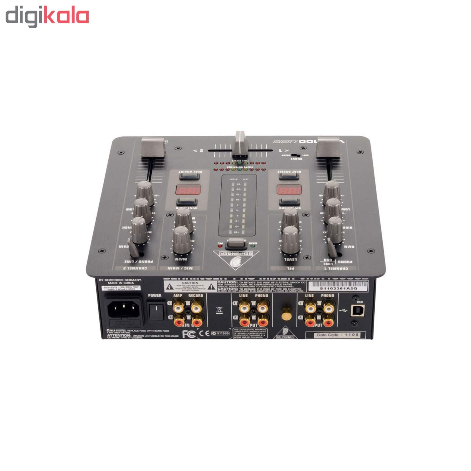 میکسر دی جی بهرینگر مدل VMX100 USB main 1 4
