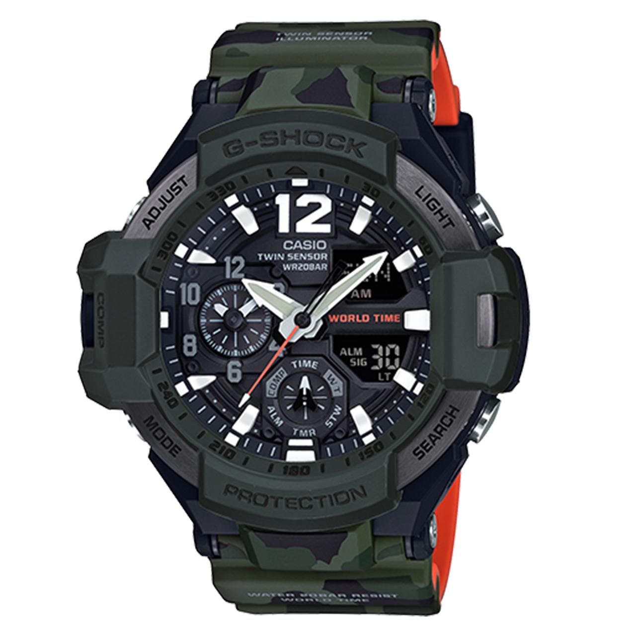 ساعت  کاسیو مدل جی شاک کد GA-1100SC-3AJF