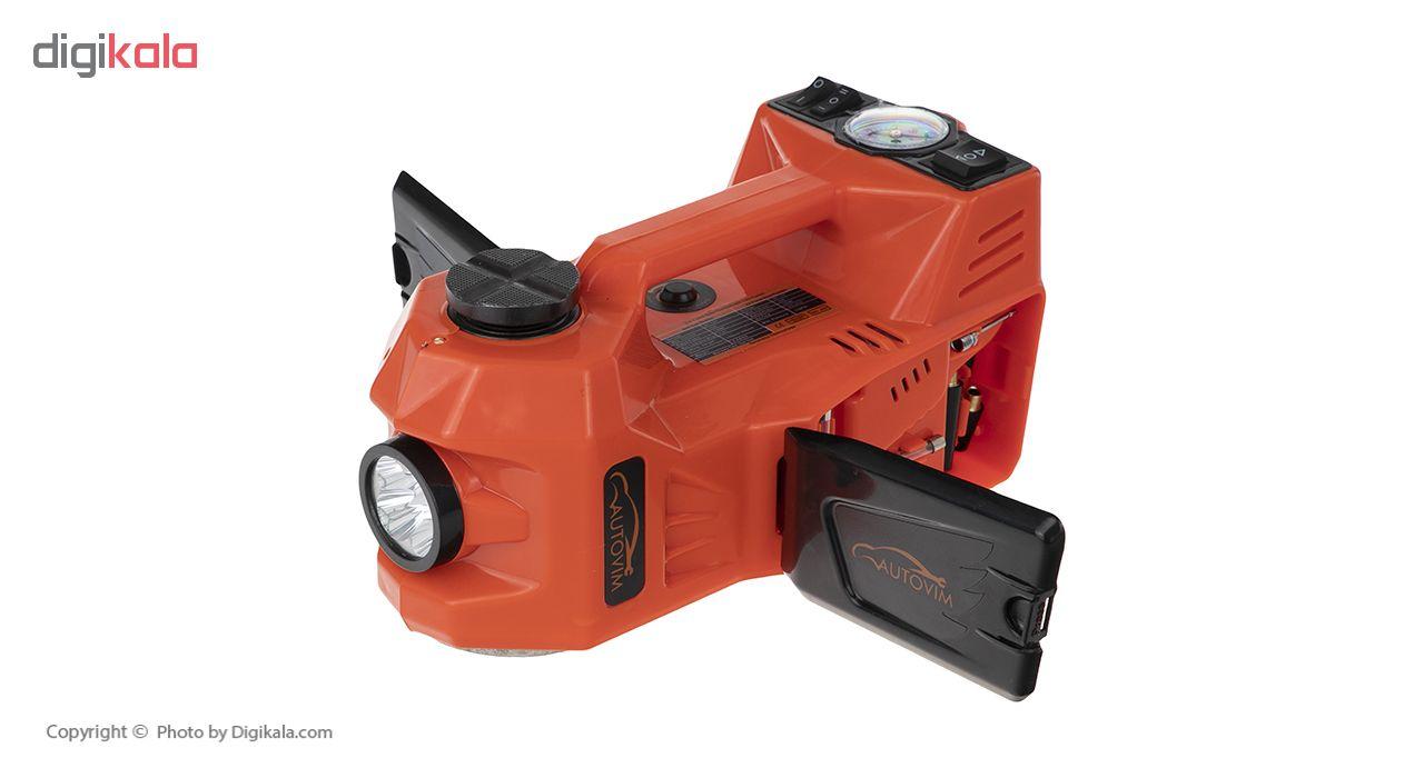 مجموعه پنچرگیری کمپرسور و آچار بکس برقی خودرو اتوویم مدل 001