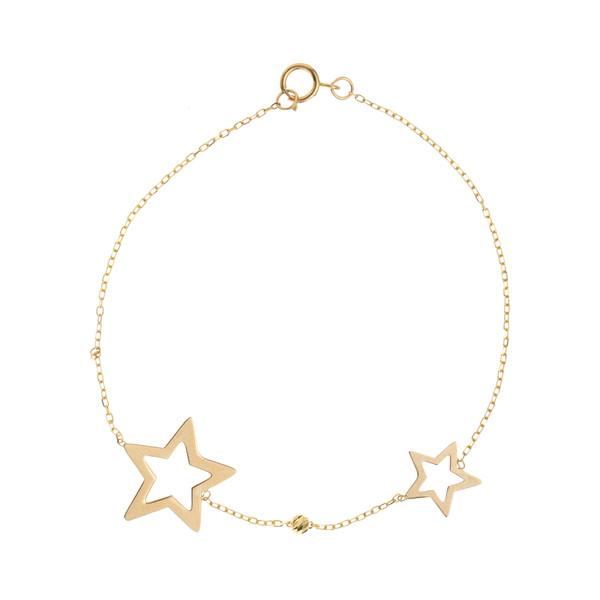 پابند طلا 18 عیار زنانه طرح ستاره کد AG-003