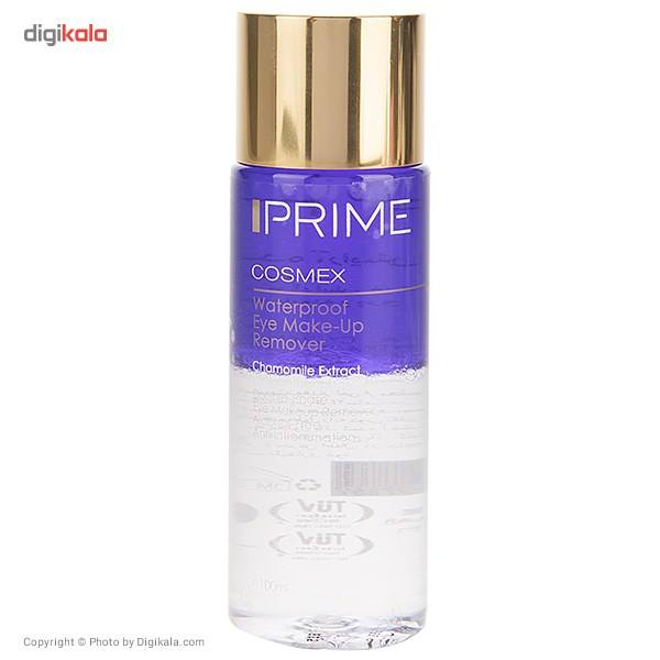 پاک کننده آرایش ضد آب چشم پریم دو فاز حجم 100 میلی لیتر  Prime Cosmex Waterproof Eye Make-Up Remover