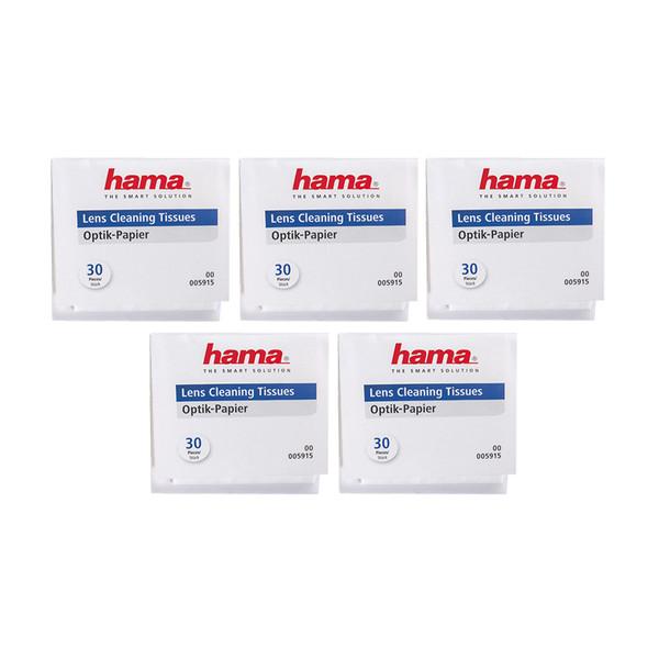 دستمال تمیزکننده لنز دوربین هاما کد 5915 - بسته 5 عددی