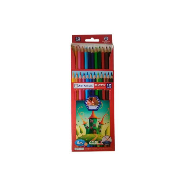 مداد رنگی 12رنگ  آسیا کد 115