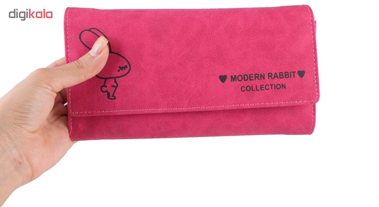 کیف پول زنانه مدرن رابیت مدل PJ418