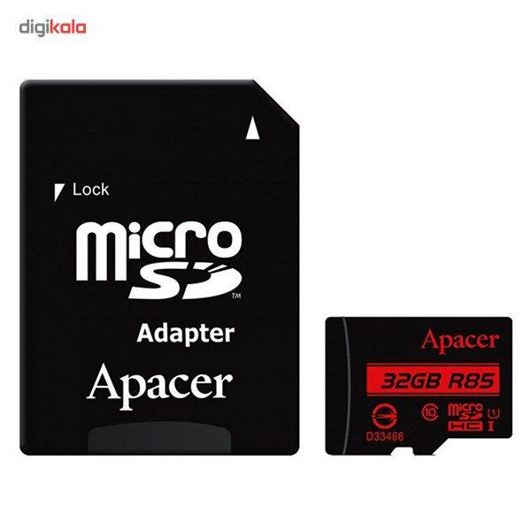 کارت حافظه microSDHC اپیسر کلاس 10 استاندارد UHS-I U1 سرعت 85MBps به همراه آداپتور SD ظرفیت 32 گیگابایت main 1 1