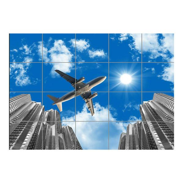 تایل سقفی آسمان مجازی مدل AZ54001 سایز 60*60 سانتی متر مجموعه 20 عددی