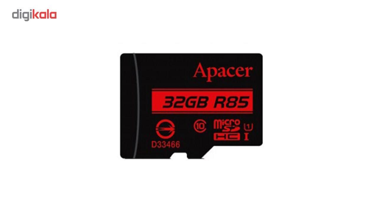کارت حافظه microSDHC اپیسر کلاس 10 استاندارد UHS-I U1 سرعت 85MBps به همراه آداپتور SD ظرفیت 32 گیگابایت main 1 2