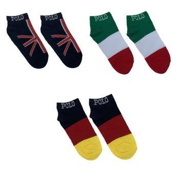 جوراب مردانه طرح پرچم مدل EIG مجموعه ۳ عددی