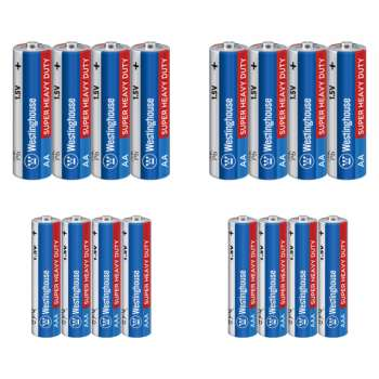 باتری قلمی و نیم قلمی وستینگ هاوس مدل Super Heavy Duty بسته 16 عددی