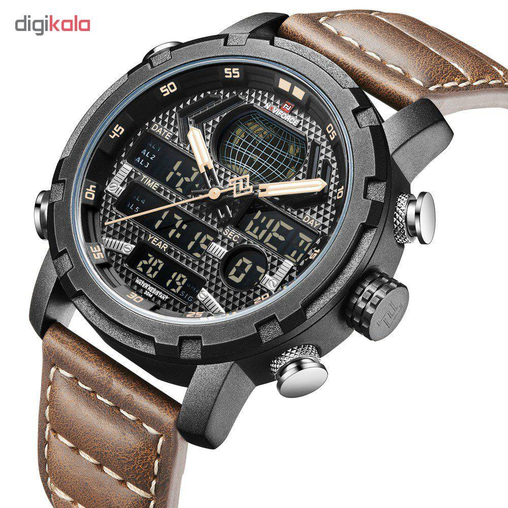 ساعت مچی عقربه ای مردانه نیوی فورس مدل NF9160 GB-W