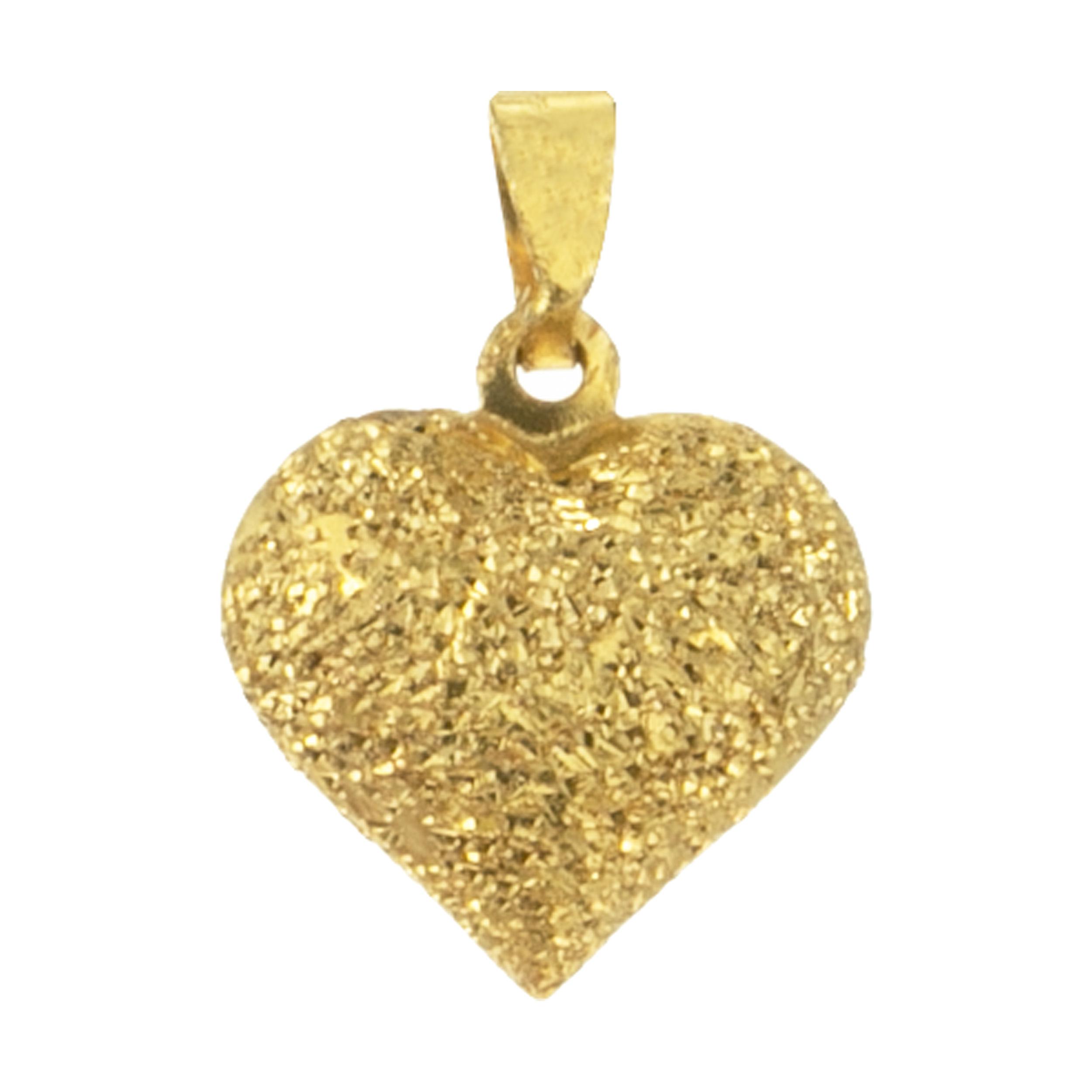 آویز گردنبند طلا 18 عیار زنانه مدل قلب کد MD-004