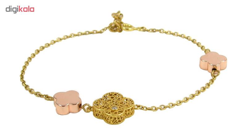 دستبند طلا 18 عیار زنانه مانچو کد bfgs001